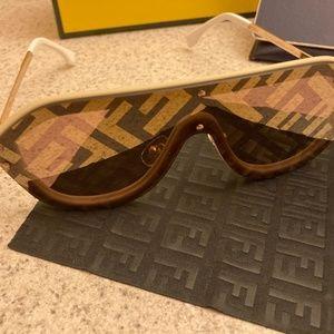 Fendi Print Shield Sunglasses